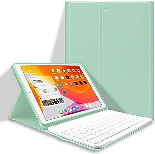 iPad8 キーボード ケース 2020 iPad 10.2 キーボード カバー 第7世代(2019)通用 脱着式 Bluetooth キーボード ぺんホルダー付き スタンド機能 オートスリープ機能 ipad7 ipad8専用 多角度調整 傷つ...