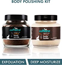 mCaffeine Body Polishing Kit | Deep Moisturizing, Tan Removal | Body Scrub, Body Butter | All Skin | Paraben & Mineral Oil Free