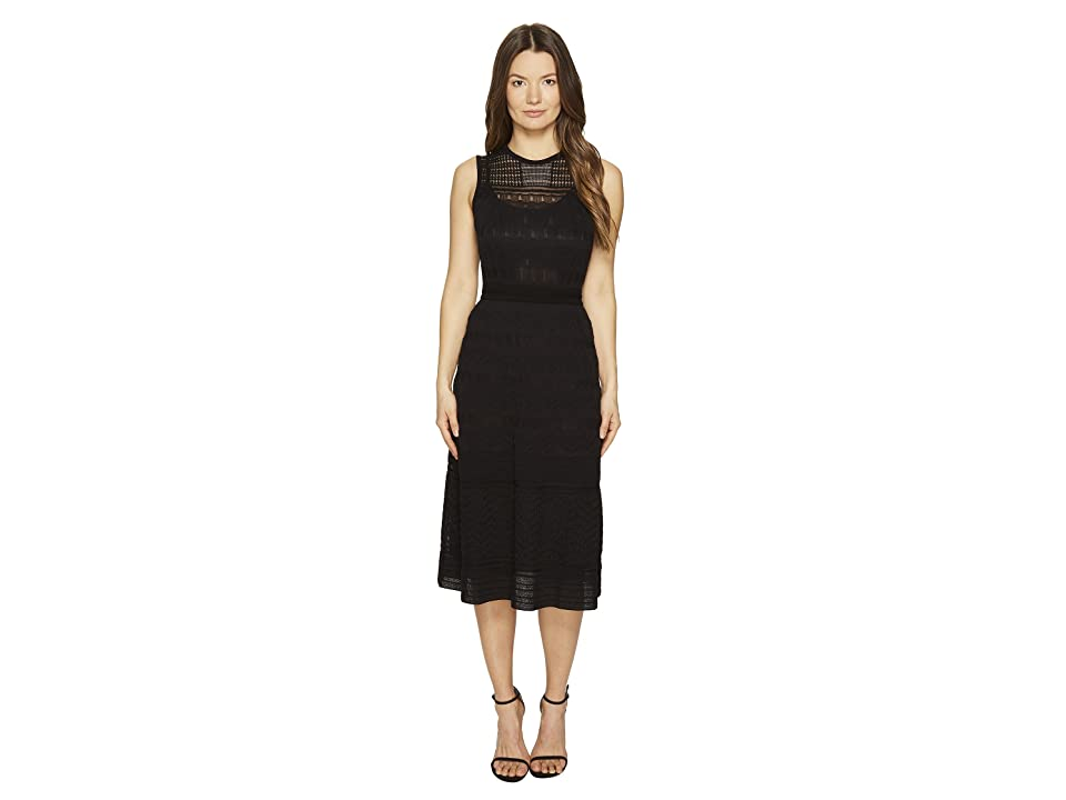 M Missoni Solid Rib Stitch Sleeveless Dress (Black 1) Women