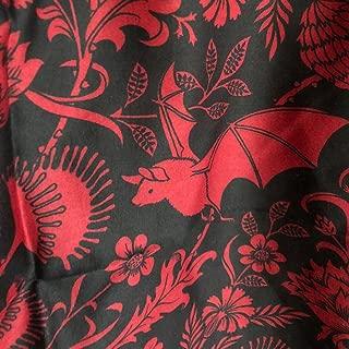 Sin in Linen Red Bat Botanical Comforter, Elysian Fields Bedding