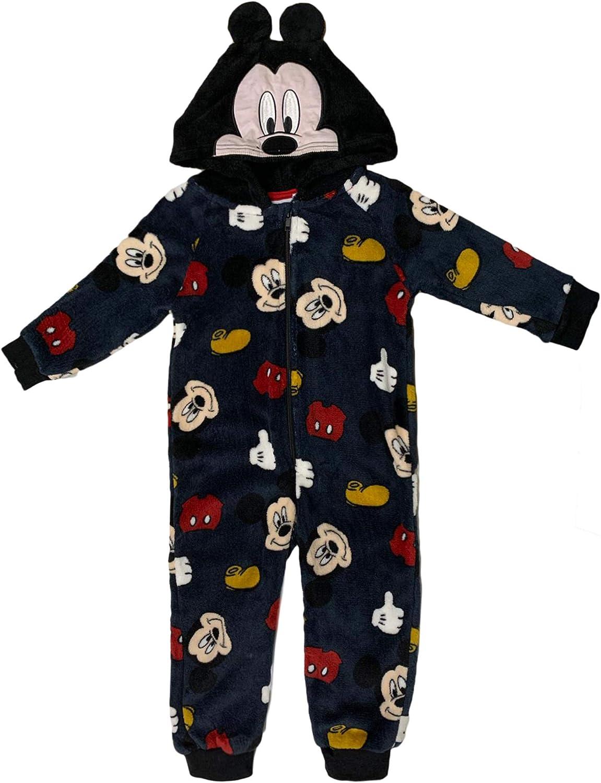 Pijama de una pieza con capucha oficial Disney Mickey Niño ...