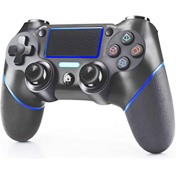 Wireless Controller Compatible with Playstation 4/Slim/Pro/PC/iPhone,PS4 Controller Remote Gamepad with Dual Vibration,Audio Jack,3.4FT USB Cable