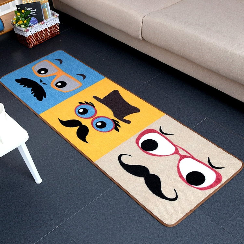 Carpet Doormat Bedroom mats Restroom Kitchen Water-Absorbing mats Bathroom Non-Slip mats-A 50x180cm(20x71inch)