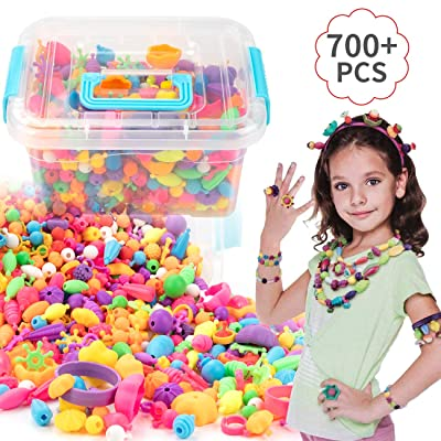 EXTSUD Pop Beads Set 700PCS  DIY Jewelry Set BP...