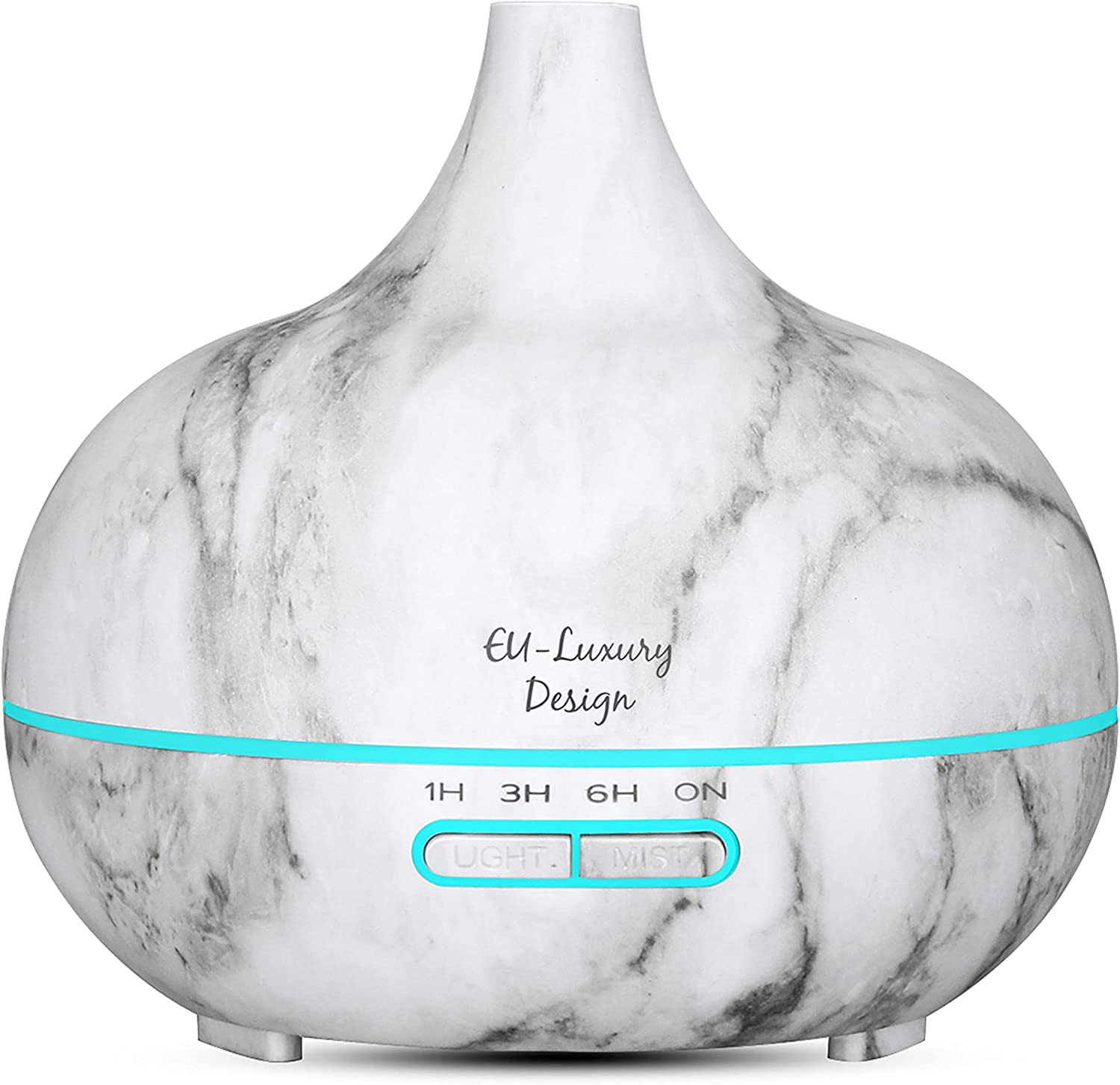 Essential Modern White Aroma Oil Diffuser & Marble Humidifier with 7 Color Led Lights, Aromatherapy Home Decoration.