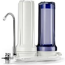 نظام توزيع المياه المنضدة، عالي المخرج من iSpring CKC2 - يشمل مرشحات الكربون النشط، أبيض