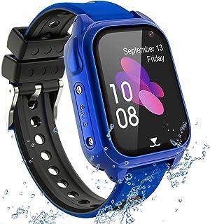 PTHTECHUS Reloj Inteligente Teléfono para niños, GPS Rastreador Podómetro Impermeable cámara SOS Pantalla táctil HD Conver...