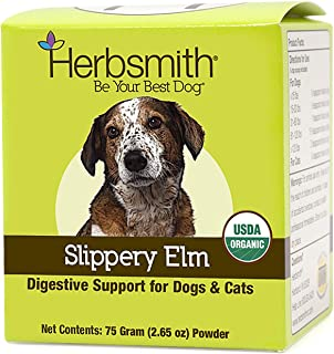 Herbsmith Organic Slippery Elm - Digestive Aid for Dogs and Cats - Constipation Relief for Dogs and Cats - Megaesophagus D...