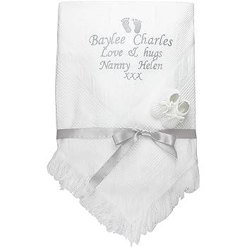 beautiful white//pink baby girls shawl **NEW**  PRINCESS can be personalised