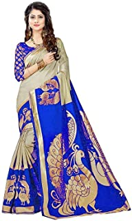 GLE Women's & Girl's Mysore Silk Cotton Saree With Blouse Piece (MORE THAN 10 DESIGNS)