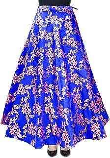 DB ENBLOC Women's Now Umbrella Cut Skirt for Party/Festival Function Blue