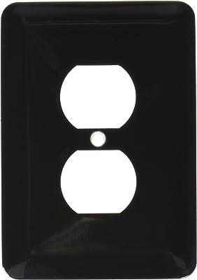 3dRose lsp_163464_6 Image of Black Dark Plain Hue 2 Plug Outlet Cover