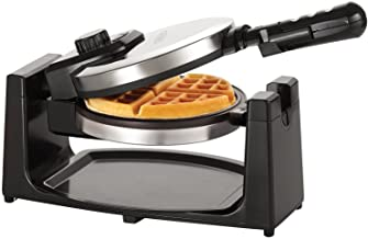 BELLA (13991) Rotating Non-Stick Belgian Waffle Maker with Removeable Drip Tray, Polished Stainless Steel