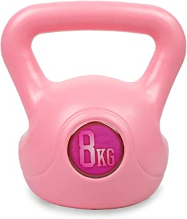 Phoenix Fitness - Kettlebell in vinile rosa, 8 kg, per allenamento di forza e cardio