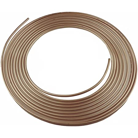 Inverted Flare SAE Thread Easy to Bend and Malleable Luanoy 25 ft 3//16 Rustproof Plated Brake Line Tubing Coil Roll with 16 Fittings
