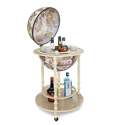 Bar Globe Art 42//Ivory Made in Italy With Certificate Of Authenticity