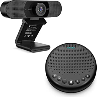 Home Office Set from Bluetooth Speakerphone Luna Black + 1080P HD Streming Webcam C960, Computer Speakers with Microphone,...