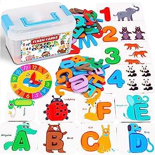 بطاقات الفلاش ABC من كاتكرافتر ألعاب مونتيسوري - ألعاب تعليمية للأطفال في مرحلة ما قبل المدرسة أنشطة تعلم الحروف الأبجدية ...