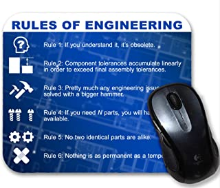 Rules of Engineering Funny Mouse Pad