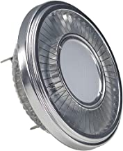 SLV 551412 G5.3 19.5 W 2700 k 140 Degree Metal QRB111 CREE XB-D Illuminant LED-NV-Reflector Lamp, Silver/Transparent