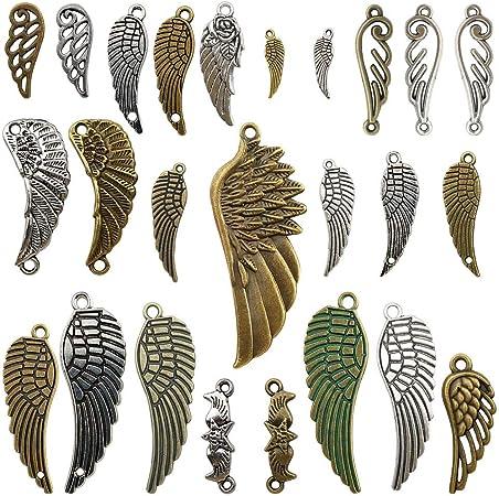 metal feather pendant 104x22mm CP849 20pcs antique bronze color metal feather charm