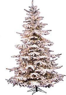Vickerman 85' Flocked Sierra Artificial Christmas Tree with 850 Clear Lights