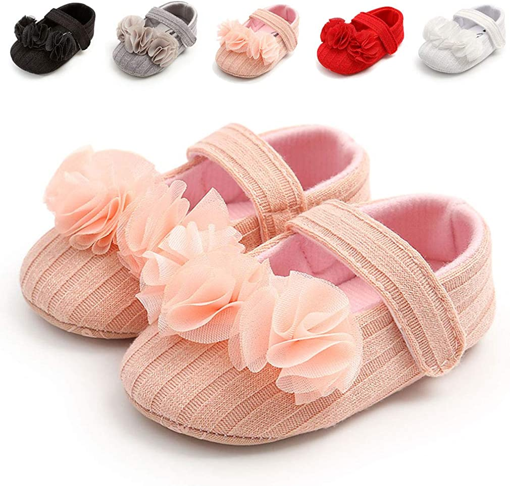 Baby Girl Shoes Infant Non-Slip Soft Sole Baby Girl Dress Shoes with Winter Warm Toddler Mary Jane Shoes
