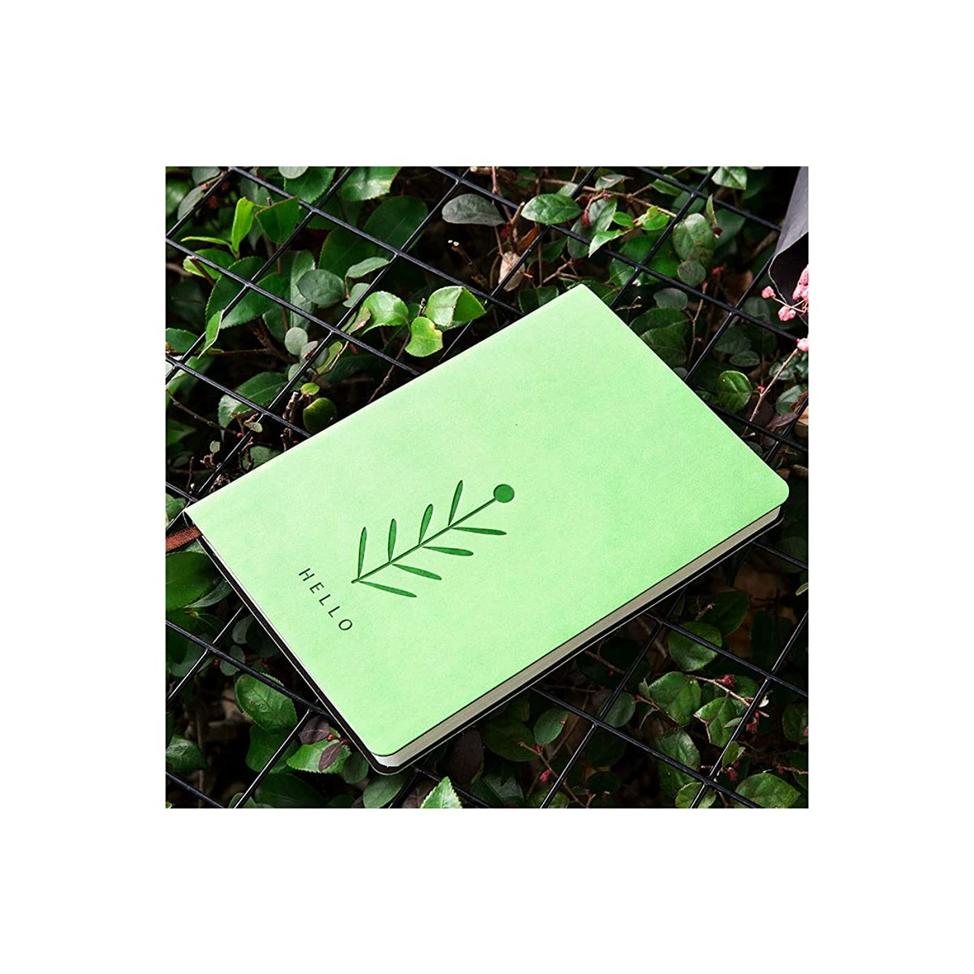 Kuqiqi ノートブックセット、ホリデーギフト、ノートブック、パーソナリティクリエイティブシンプルさ、日記、レトロな会議メモ帳、ソフトレザーノートブック、茶色、赤、青、緑、黒 高品質の製品 8 (Color : ピンク)