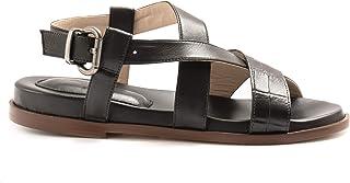 LORENZO MASIERO Sandalo Nero con Stampa Cocco e Plantare - 210051/B Cocco Nero - Taglia