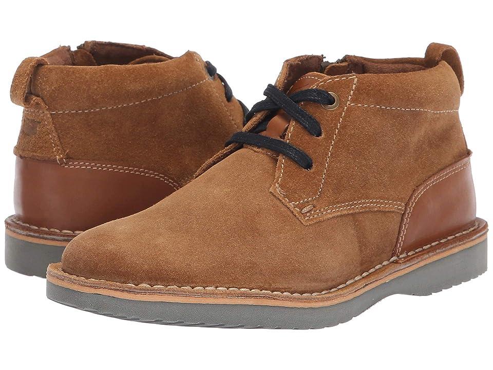 Florsheim Kids Navigator Chukka Jr. (Toddler/Little Kid/Big Kid) (Mocha Suede/Saddle Tan) Boys Shoes