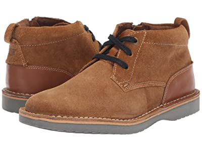 Florsheim Kids Navigator Chukka Jr. (Toddler/Little Kid/Big Kid) (Mocha Suede/Saddle Tan) Boys Shoes