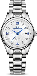 RORIOS Business Quartz Watches Stainless Steel Band Date Wrist Watch For Girl/Women Waterproof