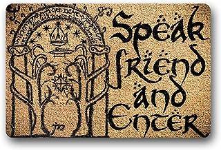 """BXBCASEHOMEMAT Speak Friend and Enter in Here Non-Skid Family Floor Entrance Doormat Indoor/Outdoor 23.6"""" X 15.7"""""""