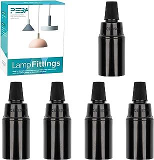 Lot de 5 douilles E14 en bakélite - Pour ampoule E14 - Style rétro - Noir - 250 V 4 A