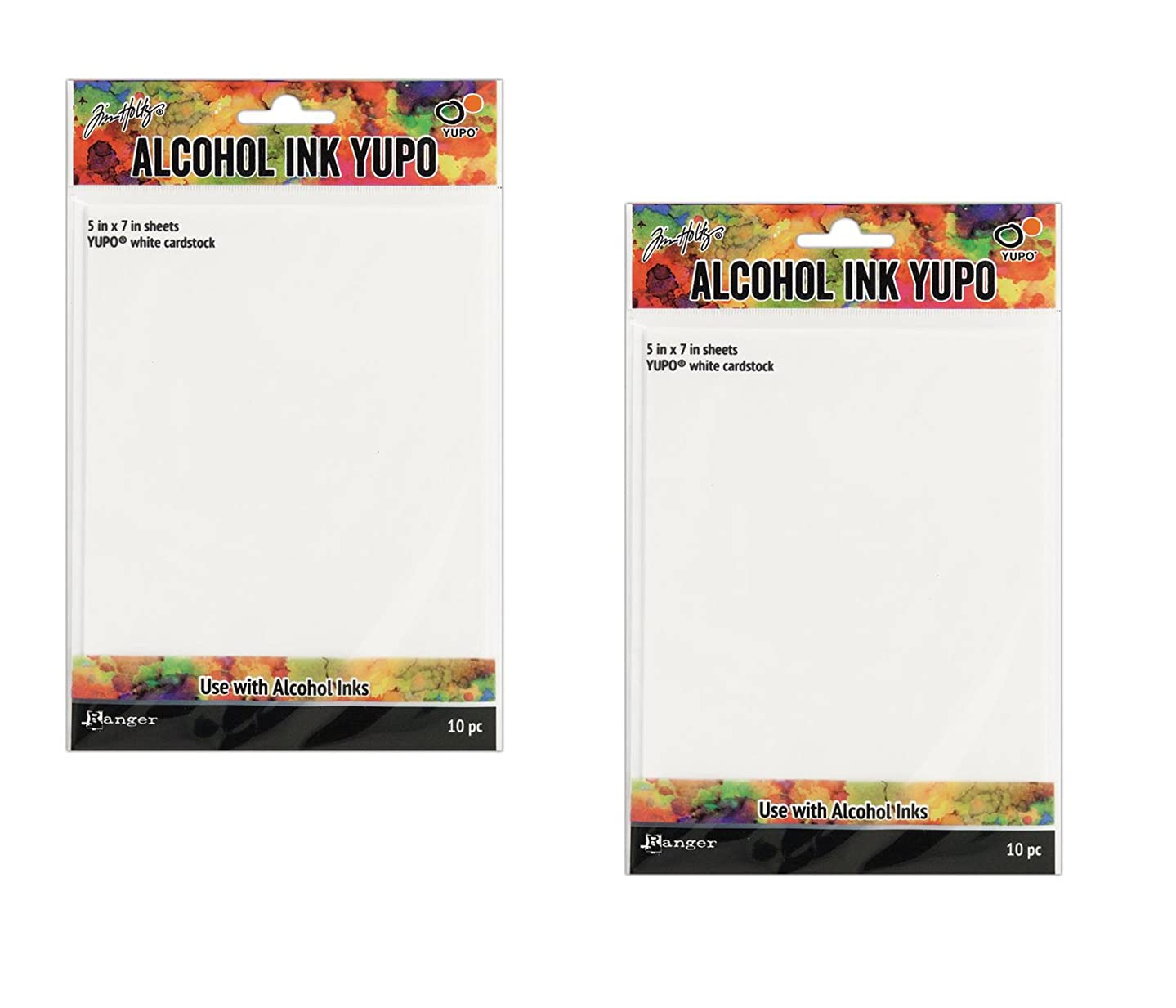 Ranger Tholtz Alcohol Ink Yupo Paper 5x7 White (2 packs)
