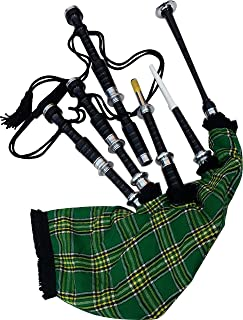 Great Highland Bagpipe Irish Tartan with Hard Case and Accessories