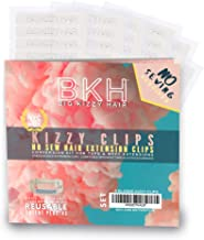 Big Kizzy Blonde Kizzy Clips - No Sew Extension Clips Kit. Easily Convert Tape in Hair Extensions or Wefted Hair Extensions into Clip in Extensions - Fast, Easy & Makes Permanent Extensions Reusable!