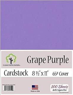 Grape Purple Cardstock - 8.5 x 11 inch - 65Lb Cover - 100 Sheets