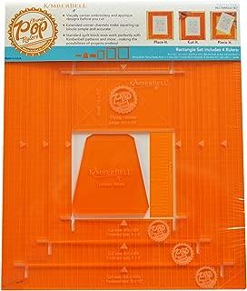 KimberBell Orange Pop Ruler Set - Rectangle