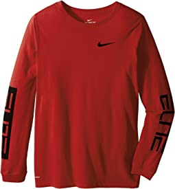 Nike Kids Dry Elite Long Sleeve Basketball T-Shirt (Little Kids/Big Kids)