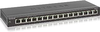 NETGEAR GS316 SOHO 16-Port Gigabit Ethernet Unmanaged Network Switch Business Use (GS316-100AUS), Grey, GS316-100AUS