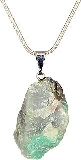 Genuine Premium Quality Healing Raw Gemstone Pendant Necklace- Amethyst, Apatite, Citrine, Emerald, Kyanite, Lepidolite, Clear & Rose Quartz, Tourmaline
