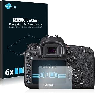savvies Protector Pantalla Compatible con Canon EOS 7D Mark II (6 Unidades) Pelicula Ultra Transparente