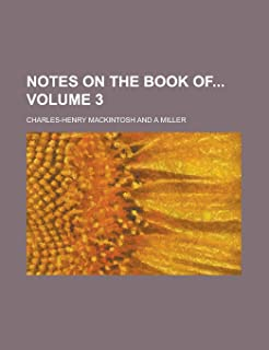 Notes on the Book of Volume 3