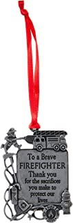 Cathedral Art CO762 Firefighter Occupation Ornament, 2-1/4-Inch