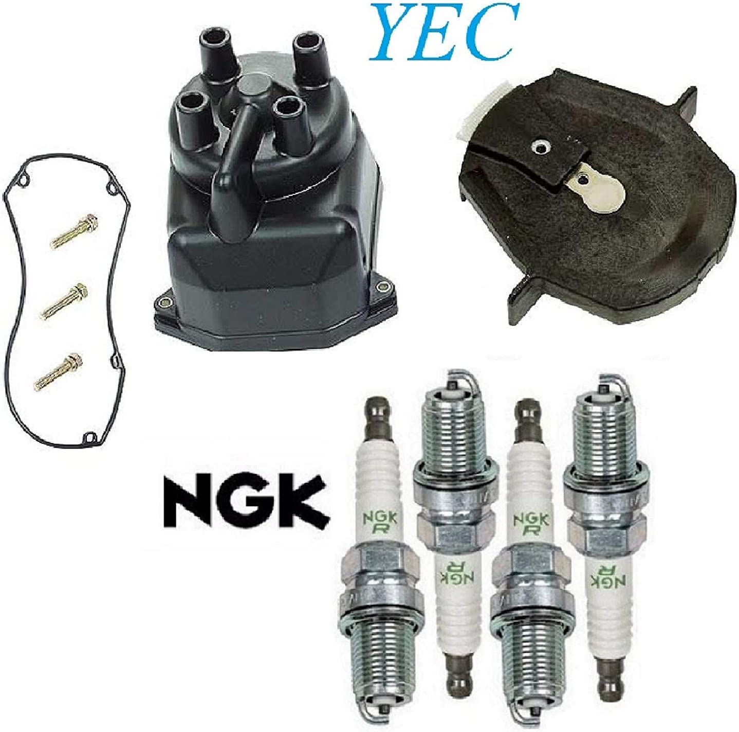 Tune Up Kit Cap Don't miss Limited time sale the campaign Rotor Plugs FIT Accord 2.3L; EX; LX; L4; F Honda