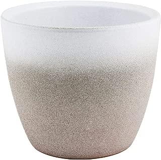 Ivyline Turno Stone Dove Grey Indoor Plant Pot Planter Flower Pot 13cm