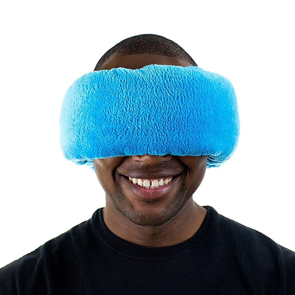 酔ったありがたいブラスト(Poseidon (Blue)) - Wrap-a-Nap - Travel Pillow, Sleep Mask & Ear Muff in One. Sleep Anywhere on Aeroplanes, Cars, Camping, Dorm Rooms, in the Office or at Home. Ultra-Soft Neck Pillow & Reading Pillow. Made in USA.