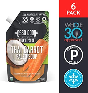 Osso Good - Thai Carrot Soup, Made with Organic Chicken Bone Broth, Paleo Certified, Dairy Free & Gluten Free (6 Count)
