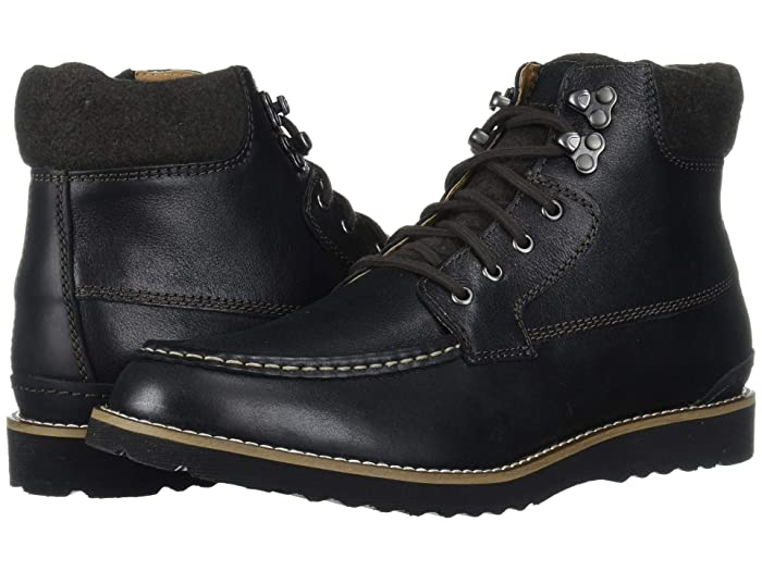 Lucky Brand  Stanford (Black Bomber Jacket Leather) Mens Boots